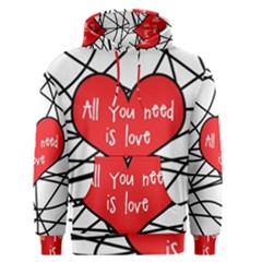Love Abstract Heart Romance Shape Men s Pullover Hoodie