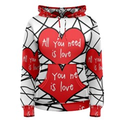 Love Abstract Heart Romance Shape Women s Pullover Hoodie