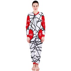 Love Abstract Heart Romance Shape Onepiece Jumpsuit (ladies)