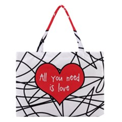 Love Abstract Heart Romance Shape Medium Tote Bag