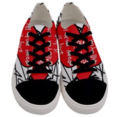 Love Abstract Heart Romance Shape Men s Low Top Canvas Sneakers
