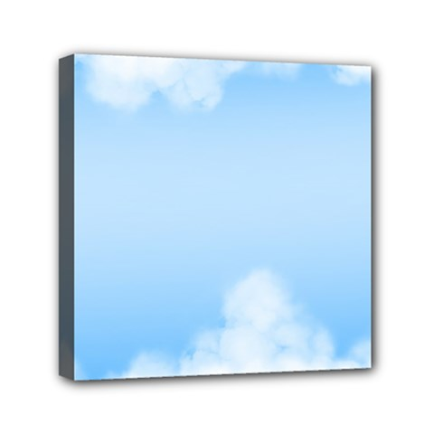 Sky Cloud Blue Texture Mini Canvas 6  X 6