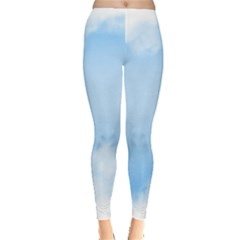 Sky Cloud Blue Texture Leggings