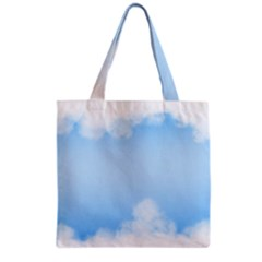 Sky Cloud Blue Texture Grocery Tote Bag