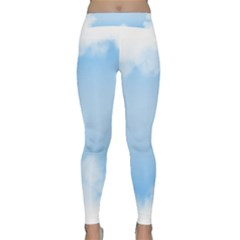 Sky Cloud Blue Texture Classic Yoga Leggings