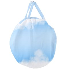 Sky Cloud Blue Texture Giant Round Zipper Tote