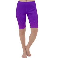 Halftone Background Pattern Purple Cropped Leggings