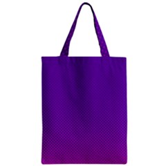 Halftone Background Pattern Purple Zipper Classic Tote Bag