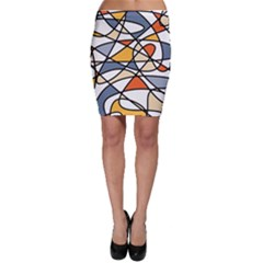 Abstract Background Abstract Bodycon Skirt