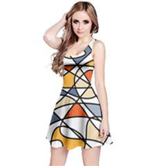 Abstract Background Abstract Reversible Sleeveless Dress