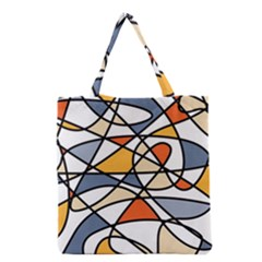 Abstract Background Abstract Grocery Tote Bag