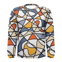 Abstract Background Abstract Men s Long Sleeve Tee