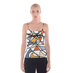 Abstract Background Abstract Spaghetti Strap Top