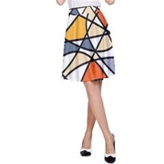 Abstract Background Abstract A Line Skirt