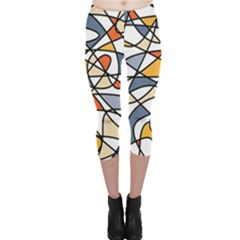 Abstract Background Abstract Capri Leggings