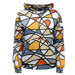 Abstract Background Abstract Women s Pullover Hoodie