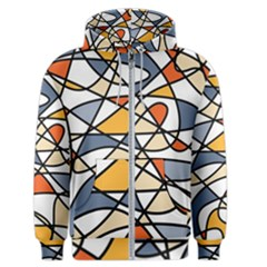 Abstract Background Abstract Men s Zipper Hoodie