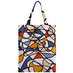 Abstract Background Abstract Zipper Classic Tote Bag
