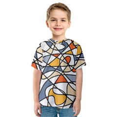 Abstract Background Abstract Kids  Sport Mesh Tee