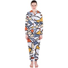 Abstract Background Abstract Hooded Jumpsuit (ladies)