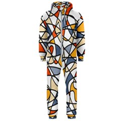 Abstract Background Abstract Hooded Jumpsuit (men)