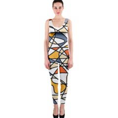Abstract Background Abstract Onepiece Catsuit