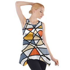 Abstract Background Abstract Side Drop Tank Tunic