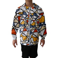 Abstract Background Abstract Hooded Wind Breaker (kids)
