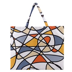 Abstract Background Abstract Zipper Large Tote Bag