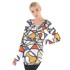 Abstract Background Abstract Tie Up Tee