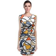 Abstract Background Abstract Classic Sleeveless Midi Dress