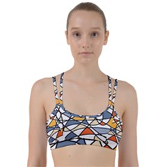 Abstract Background Abstract Line Them Up Sports Bra