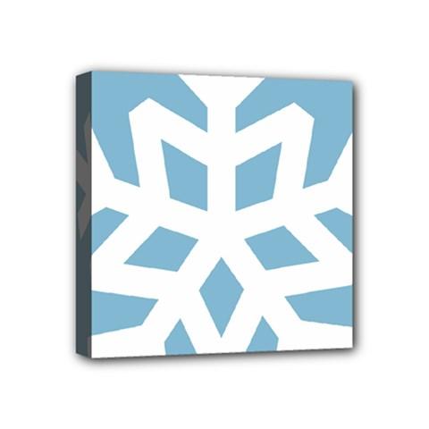 Snowflake Snow Flake White Winter Mini Canvas 4  X 4