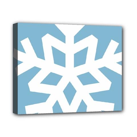 Snowflake Snow Flake White Winter Canvas 10  X 8