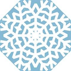 Snowflake Snow Flake White Winter Straight Umbrellas