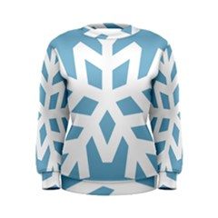 Snowflake Snow Flake White Winter Women s Sweatshirt