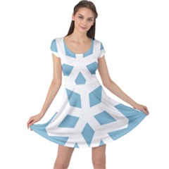Snowflake Snow Flake White Winter Cap Sleeve Dress
