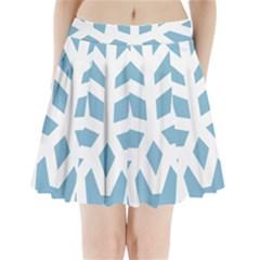 Snowflake Snow Flake White Winter Pleated Mini Skirt