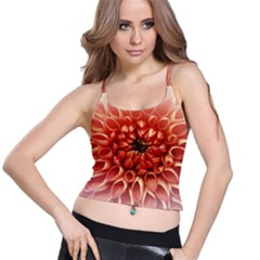 Dahlia Flower Joy Nature Luck Spaghetti Strap Bra Top