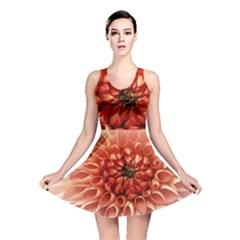 Dahlia Flower Joy Nature Luck Reversible Skater Dress