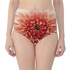 Dahlia Flower Joy Nature Luck High Waist Bikini Bottoms