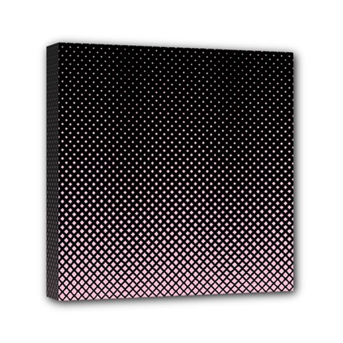 Halftone Background Pattern Black Mini Canvas 6  X 6