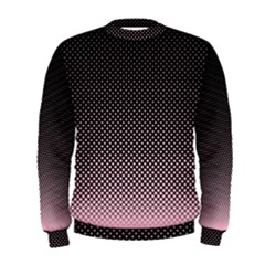 Halftone Background Pattern Black Men s Sweatshirt