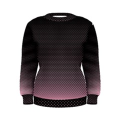 Halftone Background Pattern Black Women s Sweatshirt
