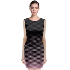 Halftone Background Pattern Black Classic Sleeveless Midi Dress