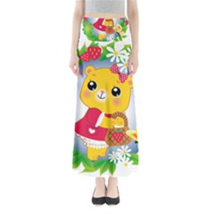 Bear Strawberries Full Length Maxi Skirt