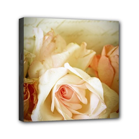 Roses Vintage Playful Romantic Mini Canvas 6  X 6