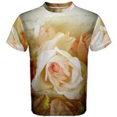 Roses Vintage Playful Romantic Men s Cotton Tee