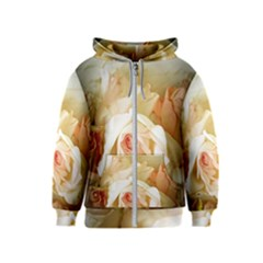Roses Vintage Playful Romantic Kids  Zipper Hoodie