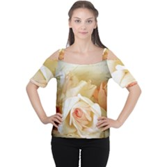 Roses Vintage Playful Romantic Cutout Shoulder Tee